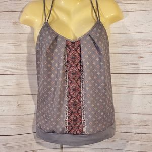 Maurices Gray Multi Color Tank Top